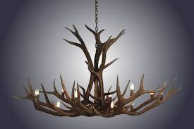 12 light single tier elk antler chandelier large sku 4 969 00 12 light single tier elk antler chandelier large