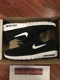 size 14 skater shoes nike free effective new mens nike stefan janoski max l size 14 black