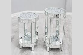 glitz lamp table crushed glass