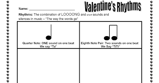 The Sweetest Melody: Valentine's Day Rhythm Activity - ta and titi