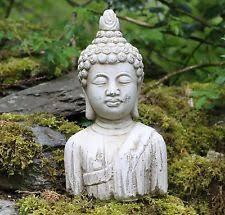 garden buddha. Buddha Bust Stone Drift Wood Effect Garden Outdoor Indoor Statue Ornament A