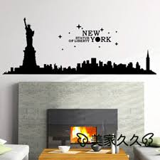 new york city landmark wall sticker new york city decal home