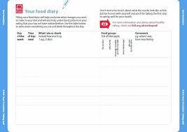 Food Diary Template Free Cool Journal Template Miyamu