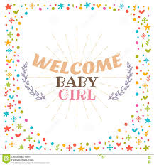 baby postcard welcome baby girl shower card cute postcard arrival card stock
