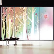 luxury decorative sliding glass door decals 7