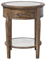 classic round light wood accent table drawer mirrored transitional elegant rustic side tables and end tables by my sy home
