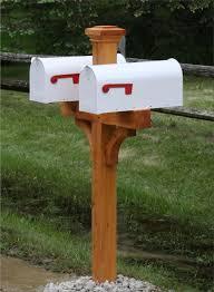Cedar Double Mailbox Post  Pinterest