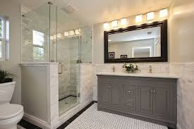 traditional master bathroom. Traditional Master Bathroom With Blaisdell Wall Mirror, Carrara Wicker Marble Mosaic, French Casement Double E