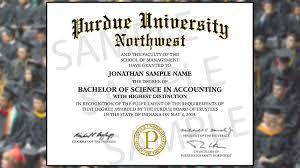 Diploma Wording Diploma Wording Change Upsets Some Purdue Northwest Students