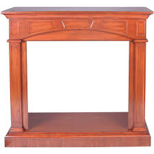 46 81 in vent free mantel fireplace in heritage cherry