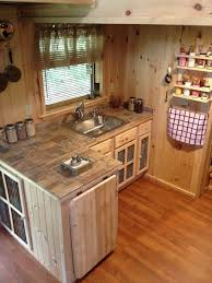 House Kitchen A 240 Square Feet Tiny House With Downstairs Office Upstairs