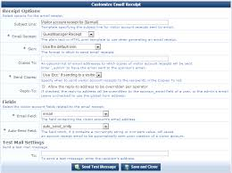 Receipt Email Template Email Receipt Options