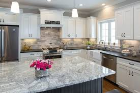 silver granite countertops black pearl leather granite and silver cloud island contemporary kitchen silver grey granite countertops silver creek granite