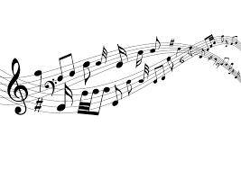 フリーイラスト 流れる音符の背景でアハ体験 Gahag 著作権フリー
