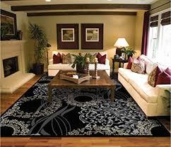 luxury modern rugs for living dining room black cream beige rug 5x7 contemporary eetrance