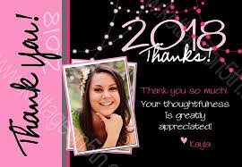 The Big Grad Graduation Thank You Card Pink Printable Digital