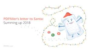 Pdffillers Letter To Santa Summing Up 2018