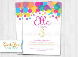 Polka Dot Invitations Pin By Em Bea Paperie On Girl Birthday Parties Birthday