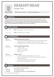 One Page Resume Format Mesmerizing Over 28 CV And Resume Samples With Free Download One Page