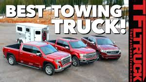 2019 Truck Towing Capacity Comparison Chart Best Half Ton Towing Truck Ford F 150 Vs Gm 1500 Vs Ram 1500 Vs Worlds Toughest Towing Test