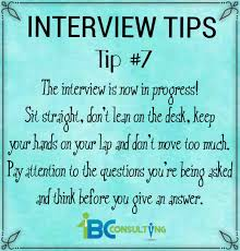 Interview Tip Interviewing Tip 7 1bc Consulting