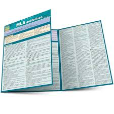 Mla Guidelines Quick Study Academic Inc Barcharts 9781423225355