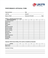 Awesome Employee Evaluation Template Appraisal Samples Concept High ...