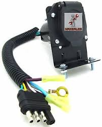 new 4 flat to 7 way rv trailer light plug wire harness converter image is loading new 4 flat to 7 way rv trailer