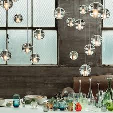 contemporary lighting. The \u002714\u0027 Is An Articulated, Cast Glass Sphere With A Frosted Cylindrical Void Contemporary Lighting