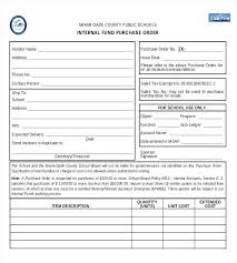 Purchase Order Templates Free Internal Purchase Order Template Sample Example Templates