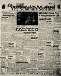 Seminole Sentinel Newspaper Archives, Jan 21, 1954, p. 1