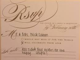 How To Reply To Wedding Rsvp Card Response To Wedding Invite Magdalene Project Org
