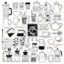 カフェ手描きベクター素材詰合せ 本日のイラレ Booth支店 Booth