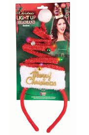 Light Fm Christmas Light Up Christmas Tree Headband Red