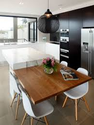 kitchen island with dining table attached designs inside plan 17