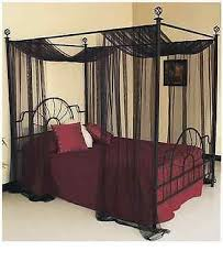Beautiful Black Canopy Bed Curtains with Best 25 Full Size Canopy ...