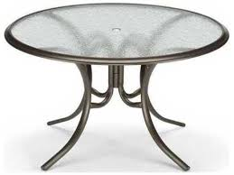 telescope casual glass top 56 round dining table with umbrella hole