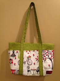 Handmade purse, gift for bike rider, small green tote with pockets ...