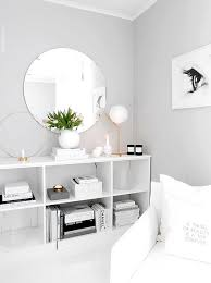 bedroom furniture colors. light grey paint color with white furniture and decor for a clean open look bedroom colors