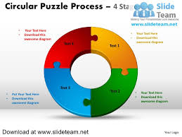 4 Piece Pie Chart 4 Pieces Pie Chart Circular Puzzle With Hole In Center