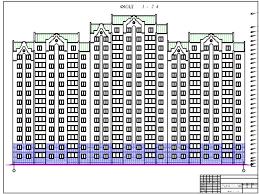 Готовые дипломные проекты по строительству Скачать дипломный  С40 Проект 15 этажного 3 х секционного жилого дома г Оренбург