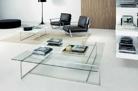 Contemporary Large Square Glass Coffee Table