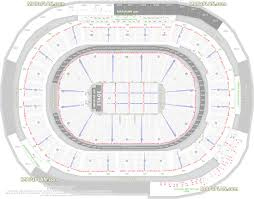 Rogers Arena Seat Numbers Chart Detailed Seat Row Numbers End Stage Full Concert Sections
