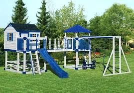outdoor playset plans diy wooden canada