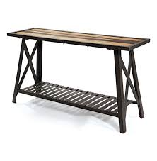 contemporary industrial furniture. st remy reclaimed wood modern industrial console table contemporary furniture