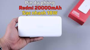 Pin dự phòng Redmi 20000mAh: sạc nhanh 18W, bảo hành cháy nổ, giá siêu rẻ,  chỉ 469K - YouTube