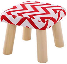 Stools Retro Style Fabric Square Ottoman Foot Rest ... - Amazon.com