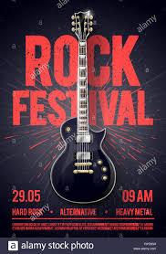 Concert Invite Template Vector Illustration Rock Festival Concert Party Flyer Or