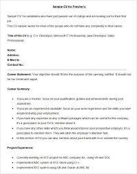 Best Resume Template Download Sample Bpo Cv For Fresher Template