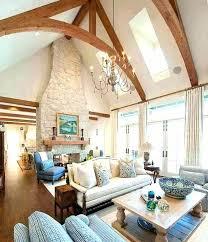 amazing living room vaulted ceiling wood beams amazing living room designed with wooden beams and skylights